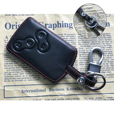 1x PU Leather Car-Styling Key Cover Case Protector For Renault Clio Logan Megane