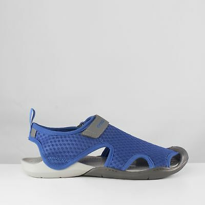 06eb4458b4fb Crocs SWIFTWATER MESH Ladies Womens Touch Fasten Summer Sports Sandals Blue  Jean