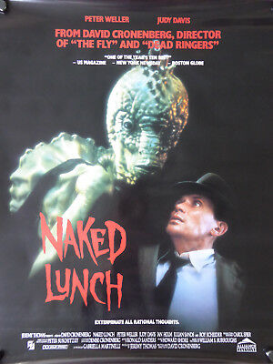 NAKED LUNCH movie video poster