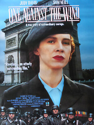 WW 2 - ONE AGAINST THE WIND movie poster - RARE !!