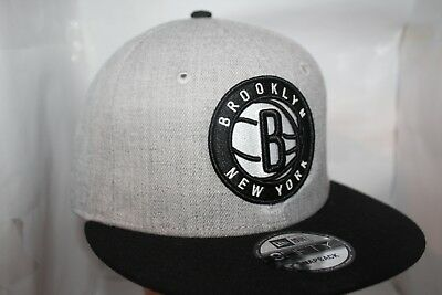 48ba443db50 Brooklyn Nets New Era NBA Heather 2-T0ne 9Fifty