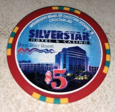 Silverstar Casino/Golden Moon $5 Choctaw Mississippi Casino Chip 2.99 Shipping