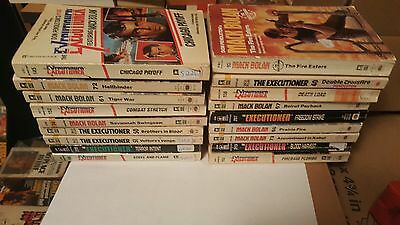18 action / adventure novels  ( Mack Bolan, The Executioner Series.)