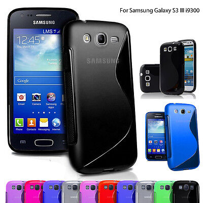 Phone Case Cover S Line Gel Silicone Skin Back Fitted For Samsung S3 III i9300