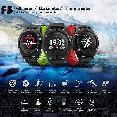 F5 Sportuhr Running GPS Smartwatch Multi-sports Fitness Tracker Bluetooth IP67