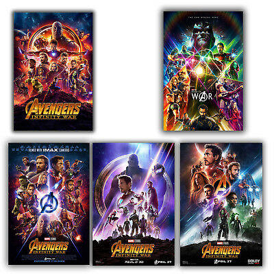 "Avengers: Infinity War Movie Poster 12x18"" 24x36"" 27""x40"" silk"