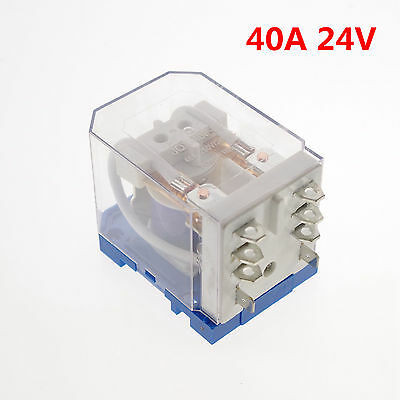 24VDC 40A DPDT Power Relay Motor Control Silver Alloy