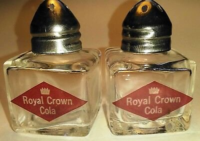 RC Royal Crown Cola Glass Salt and Pepper Shakers