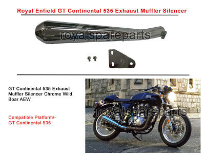 AEW Wild Boar Royal Enfield GT Continental Exhaust Silencer