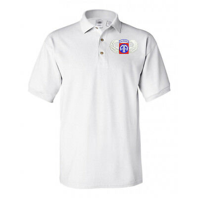 82ND AIRBORNE WING LOGO White Polo shirt poloshirt
