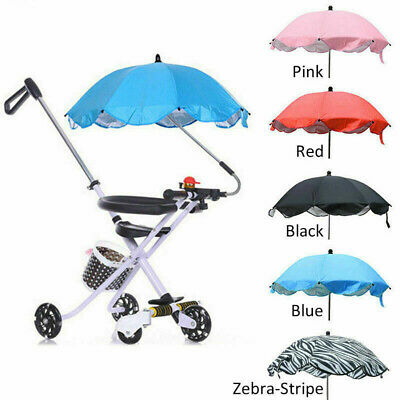 Universal Baby Kids Pram Umbrella Parasol UV Sunshade For Stroller And Pushchair