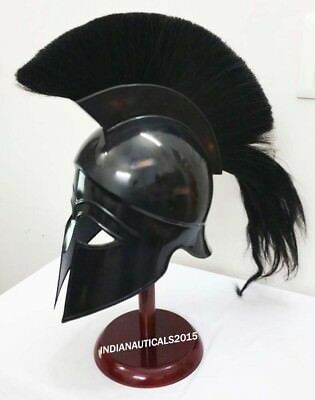 Medieval Greek Corinthian Helmet Knight Armor Costume With Stand