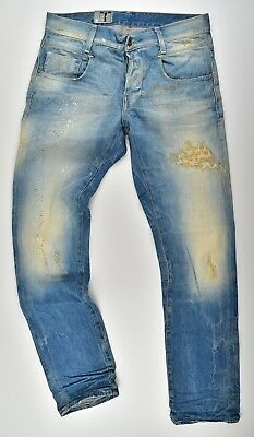 288c04f026b G-Star Raw, New Radar Slim Medium Aged Destroy, Vintage Used Look Jeans