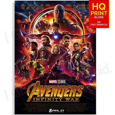 Marvel Avengers Infinity War Film Movie Poster | A5 A4 A3 A2 A1
