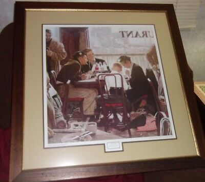 Norman Rockwell Saying Grace Framed and Matted 31 3/4 x 30 3/4