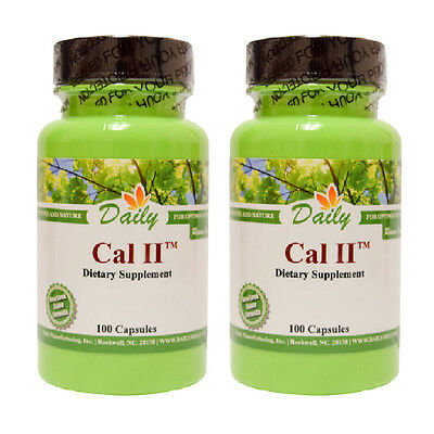 Daily Manufacturing - Cal-II - 100 Capsules - 2 and 3 Packs