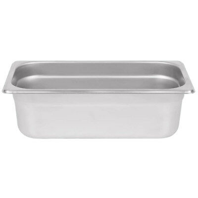 """1/3 Size 4"""" Deep Stainless Steel Steam Table Hotel Pan"""
