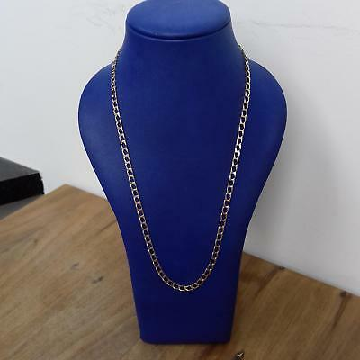 9ct Yellow Gold Square Curb Chain 13.7g