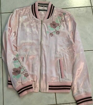 DKNY JEANS BLUSH PINK FULL ZIP JACKET Sz XLARGE XL NEW NWT RETAIL VALUE $128