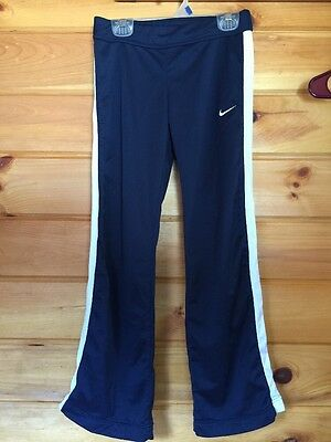 Kids Medium (10/12) Nike Dri-fit Blue And White Pants