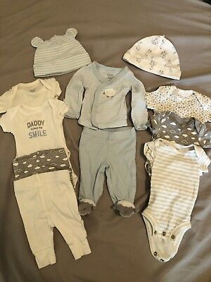 Preemie Baby Clothes Lot Boy Premie Size Up To 7 Lbs (11 Pieces)