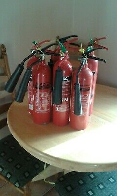 2kg CO2 fire extinguishers full up ready to use ideal for aquariums