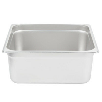"2/3 Size 6"" Deep Stainless Steel Steam Table Hotel Pan"