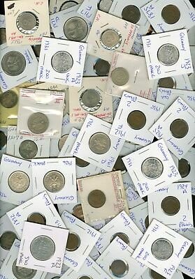 Coin Dealers Lot #4 - 68 Different Coins From Germany - Some Better Quality