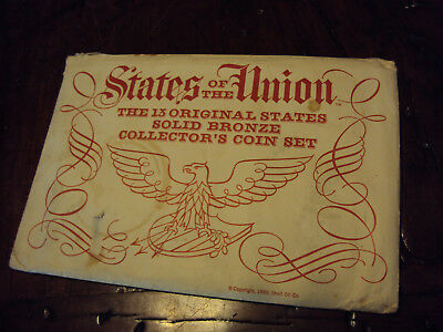 States-of-the-Union-1969-50-Solid-Bronze-Collector-Coin-Set-Shell-Oil-COMPLETE