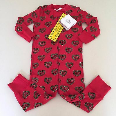 """HANNA ANDERSSON  Baby Girls """"HEART""""  Pajama 3-6 months, 60 cm. NEW!! UNIQUE"""