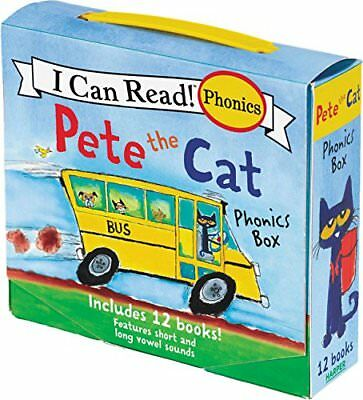 Pete the Cat Children Books I Can Read Phonics Learn to Read Kids Reading 12 Pcs