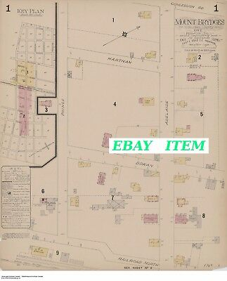 MOUNT BRYDGES ONTARIO ( Middlesex County ) TWO Street Maps 1896