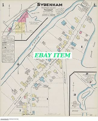 SYDENHAM ( Frontenac County ) ONTARIO TWO Street Maps 1898 George + Brewery +