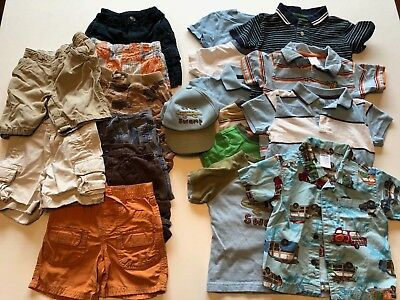 19 Piece Boys Spring Summer Lot 12-18 months Baby Gap Gymboree Shirts Shorts
