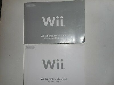 Nintendo Wii Console Instruction Manual System Set Up Channel Settings