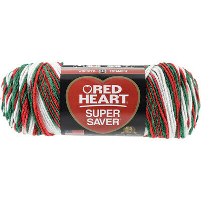 Coats Yarn E300-4965 Red Heart Super Saver Yarn-Favorite Stripe 3Pk