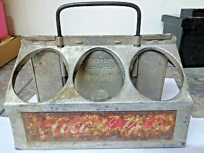 Vintage Coca Cola Metal 6 Pack Carrier