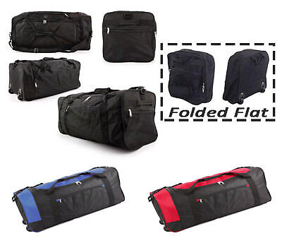 Extra Large Folding Wheeled Holdall Luggage Travel Sports Weekend Carry Bag New