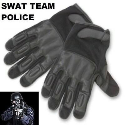 Swat Team Police Official Leather Tactical Real Weighted Sap Gloves Xl