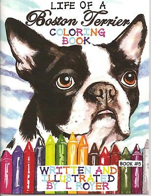 Boston Terrier Art Coloring Book Creator Artist  L Royer  Autographed #5 New