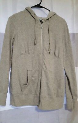 Old Navy Women's Maternity Zip Up Hooded Sweatshirt small gray