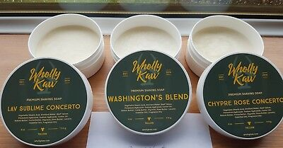 Wholly Kaw tallow shave soaps x 3