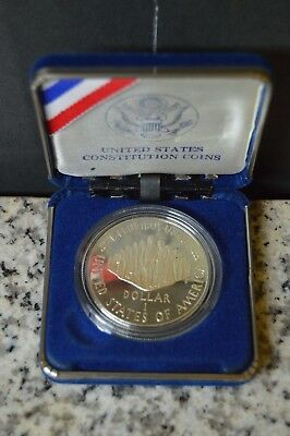 United States $1 200th Anniversary Constitution Coin 1787-1987 W/ Case