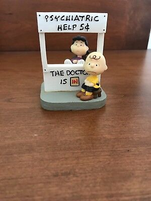 westland giftware peanuts psychiatric help item #8346 Lucy and Charlie Brown