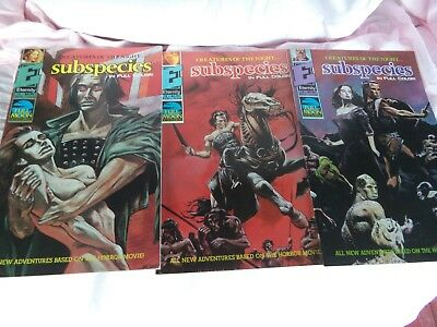Subspecies Creatures Of The Night Comic Books Issues #1,#2 And #3