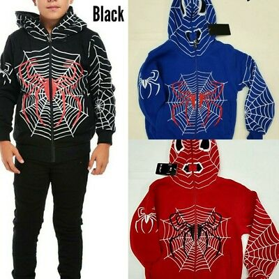 Boys Spider Man Zip-Up All The Way Hoodies