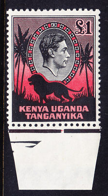 KUT GVI SG150 £1 black & red P113/4x13 superb marginal copy very l/m/m Cat £500