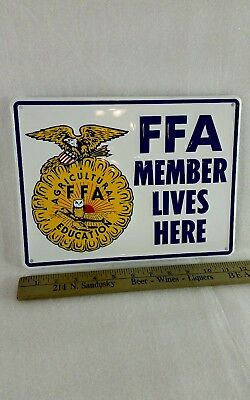 Vintage FFA MEMBER metal sign embossed - advertising farm decor - country decor