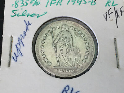 Lot of 3 1944-B to 1962-B SWITZERLAND COINS