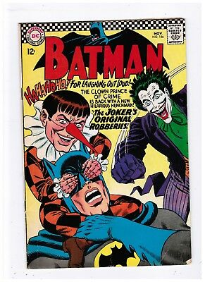 Batman 186 Silver Age Appearance Of The Joker Joker Cover And Story